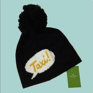 ❄️SALE❄️{Kate Spade} Taxi Beanie Pom Pom Snow Hat